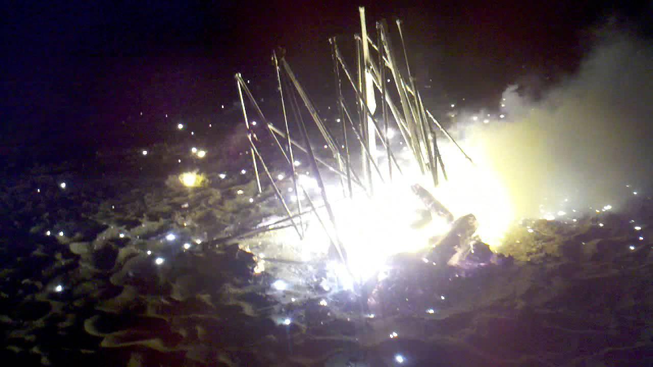 3 Magnesium Vw Engine Blocks Burning On Fire Explode