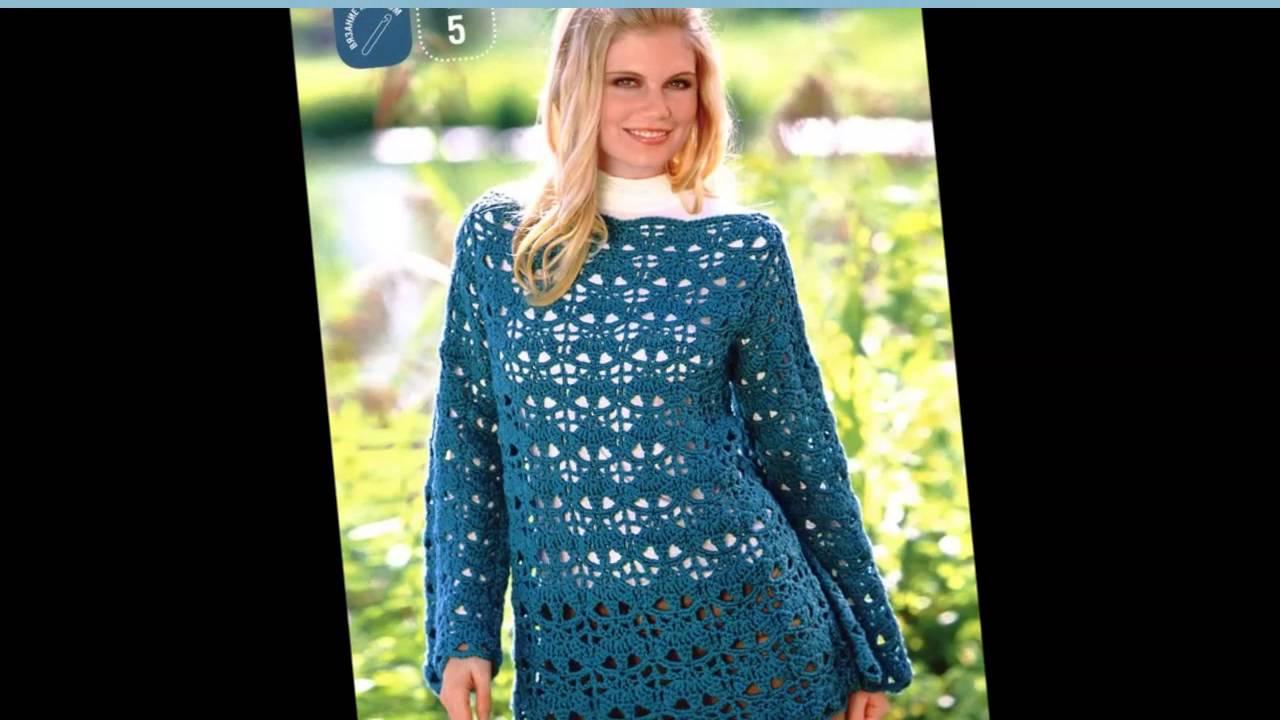 пуловеры вязаные крючком