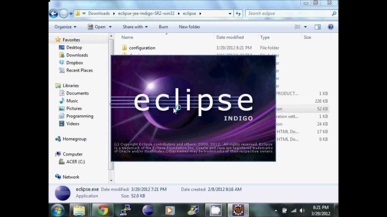 installing eclipse for java ee developers