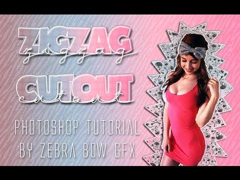 Zig Zag Cutout - PS Tutorial ♥