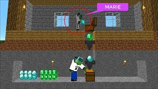 STEALING FRIENDLY ZOMBIE MARIES DIAMONDS AND GOODS !! EPIC Minecraft !!