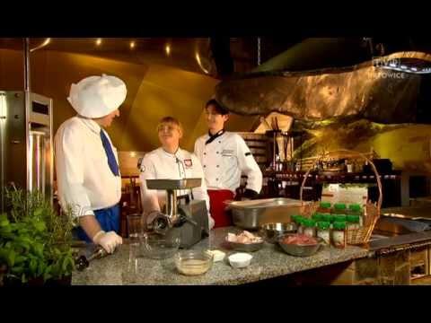 Rączka gotuje - swojska kiełbasa, żeberka barbecue i pstrąg z grilla na sosie pomidorowym.