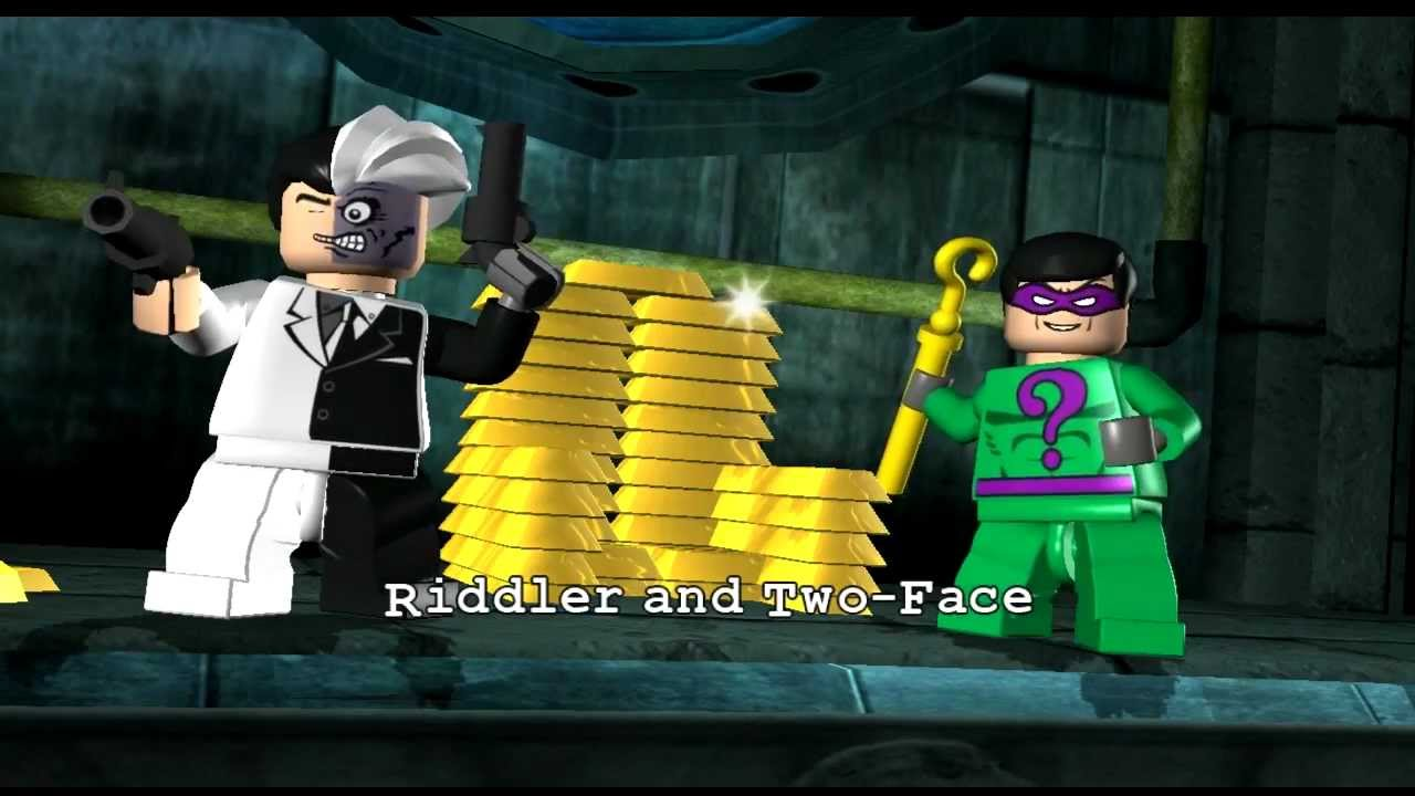 Lego Batman Playthough Part 5 Two Face And The Riddler