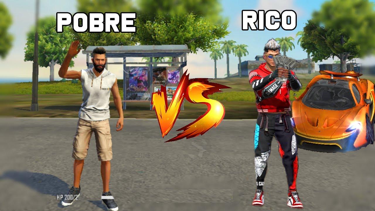 RICO VS POBRE FREE FIRE! HISTÓRIA ENGRAÇADA