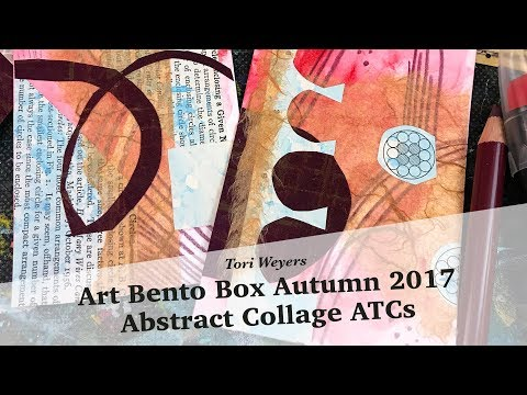 Art Bento Box Autumn 2017: Abstract Collage ATCs
