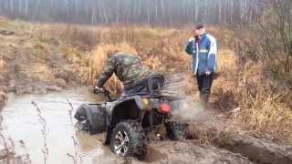 Преодоление водной преграды на квадроцикле STELS ATV 500H