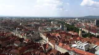 Travel guide graz, austria - graz main square / city hall