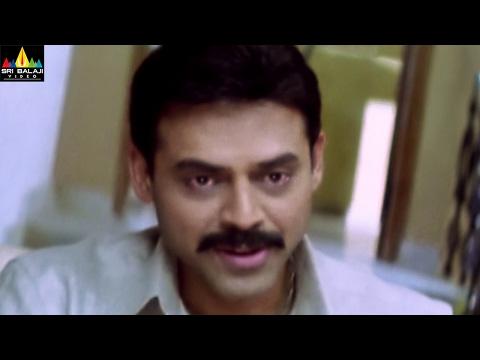 Gharshana Movie Venkatesh at Asin Home   Venkatesh, Asin   Sri Balaji Video