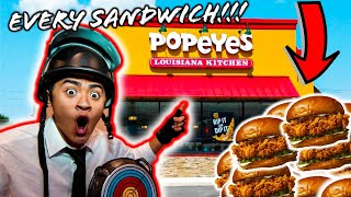BUYING ALL THE SANDWICHES AT POPEYES!!!