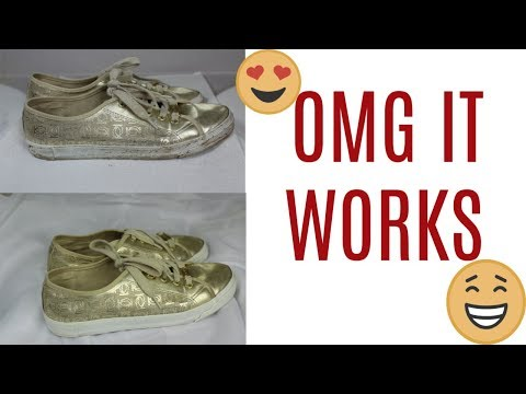 HOW TO CLEAN AND WHITEN SHOE SOLES|SIMPLYSOPHISTICATED_DEMI