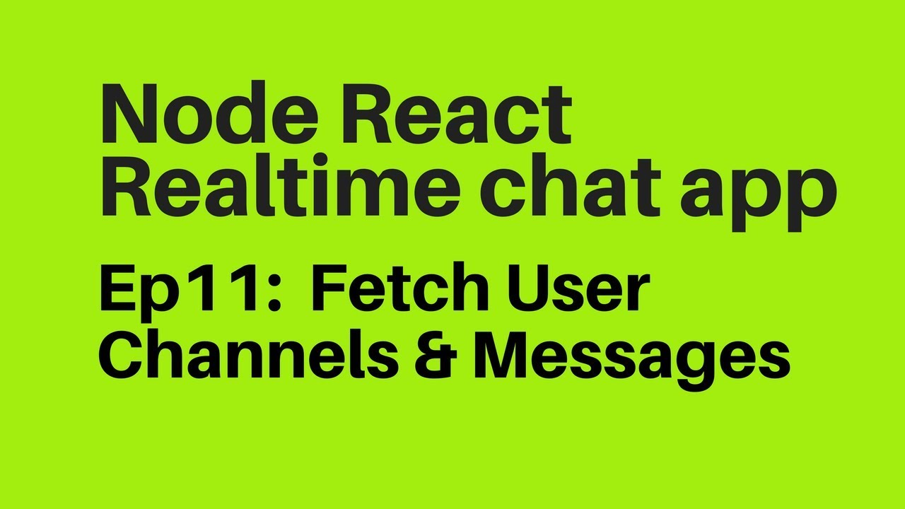 Ep11: Mongodb Aggregation Query & Fetch User channels and messages