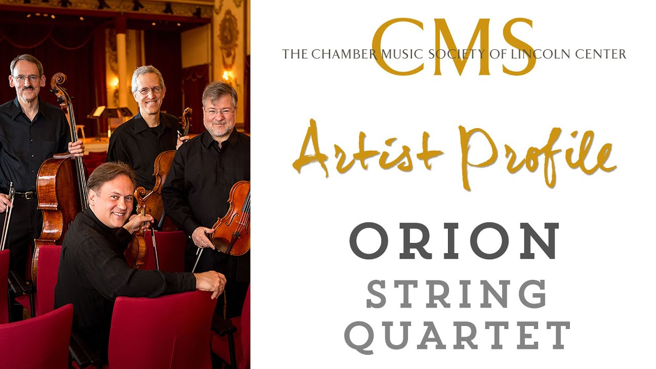 Orion String Quartet - April 2015 CMS Artist Profile