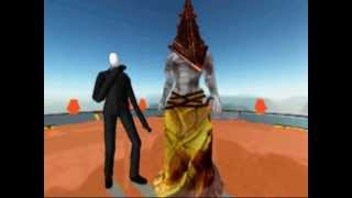 MMD-Oppa Gangnam Style (Slender and Pyramid head)