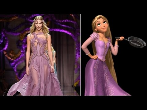 If Disney Characters Wore Couture Gowns Princess Dresses Look Alikes ...