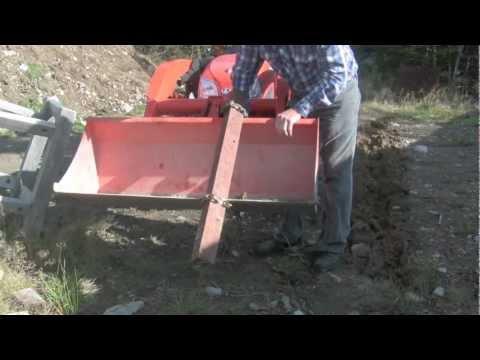 Homemade Trencher For Tractor Bucket On Kubota Bx Youtube