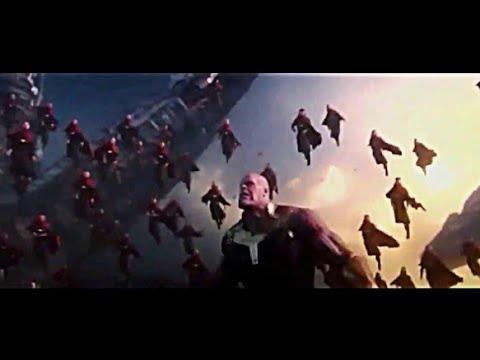 Full battle at Titan and wakanda infinity war