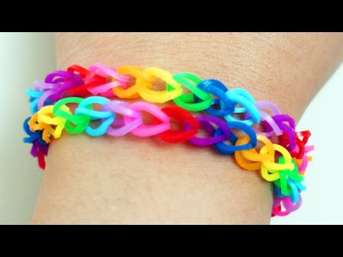 How to make rubber band bracelets with a clothing pin in 3 minutes - simplekidscrafts