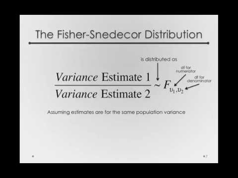 The Fisher-Snedecor Distribution I (Module 2 2 1)