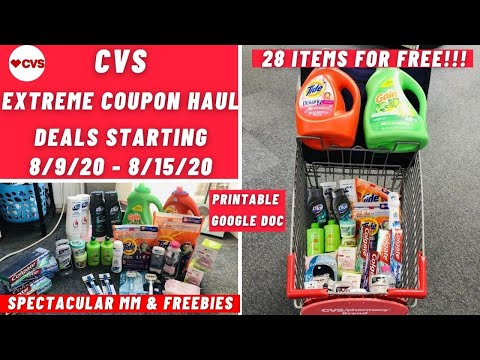CVS EXTREME COUPON HAUL DEALS STARTING 8/9 | SPECTACULAR MM & FREEBIES | 28 ITEMS FOR FREE 🏃🏽‍♀️😍