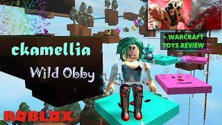 Roblox - Wild Obby!!! with new slide! - plus Warcraft toys review Blackhand and Frostwolf figurines