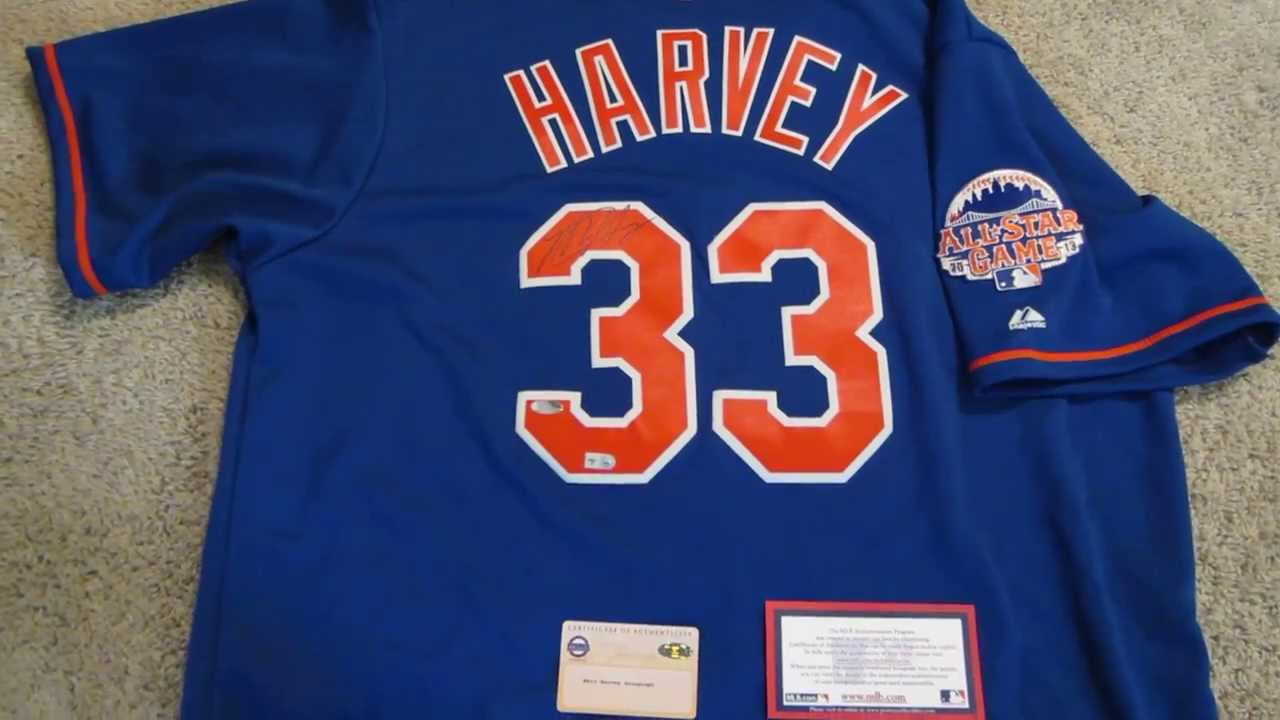 sports shoes a4440 6271f Matt Harvey Signed Mets Jersey from Powers Autographs