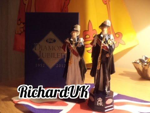 Official HM The Queen & Duke of Edinburgh Diamond Jubilee Commemorative Figurines - RichardUK