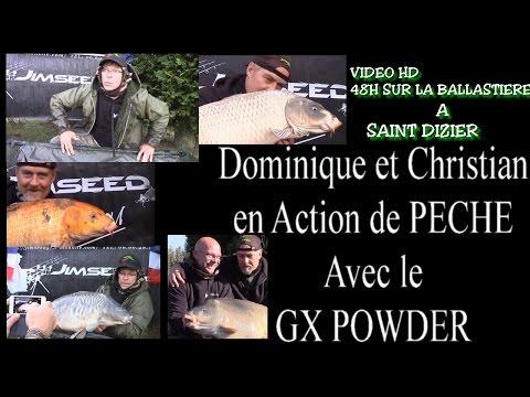 UN AUTOMNE A LA BALLASTIERE   JIMSEED BAITS   PRESENTATION DU GX POWDER   avec DOMINIQUE BLANC et  C