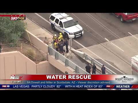 DRAMATIC RESCUE: Heavy Flooding In Scottsdale Arizona