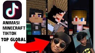 Animasi TIK TOK TOP GLOBAL Minecraft KOCAK! ft Anicraft Part 2