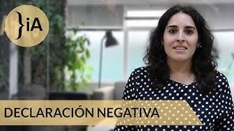 ¿Qué es una declaración negativa?
