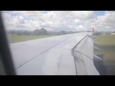 SAA A340 TAKEOFF FROM KAMUZU INTL. AIRPORT, LILONGWE/MALAWI