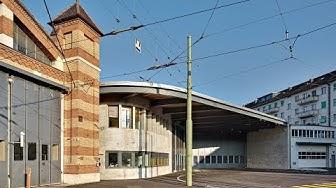 BVB Basel Tram ausfahrten und Tramfahrt