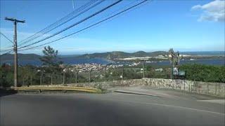 Lagoa da Conceição e Praia da Joaquina, Florianópolis, SC, BR  - Driving in Brazil #16