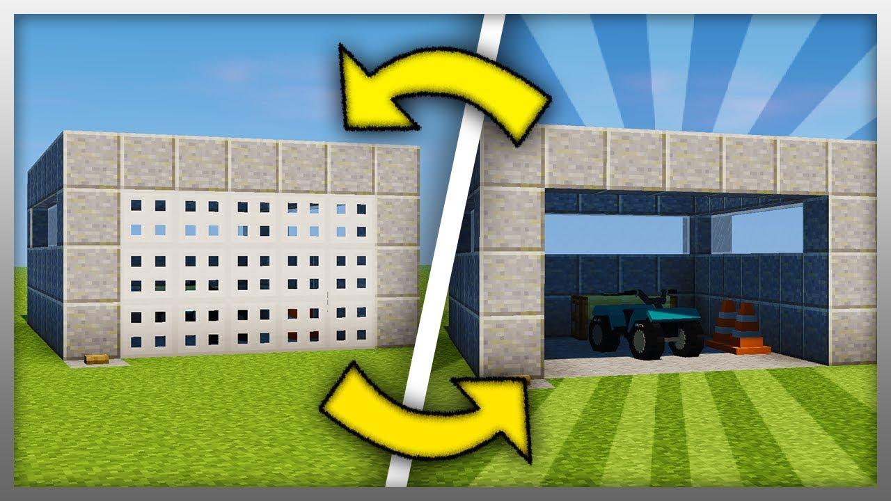 How To Build A Working Garage Door Minecraft Youtube