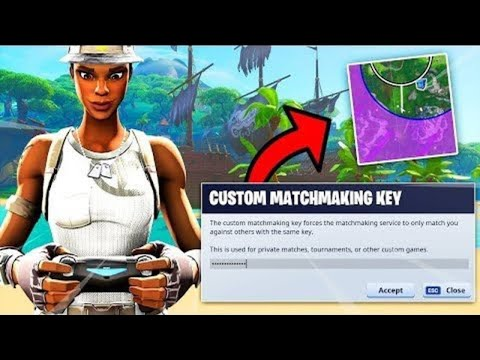 custom matchmaking key codes fortnite