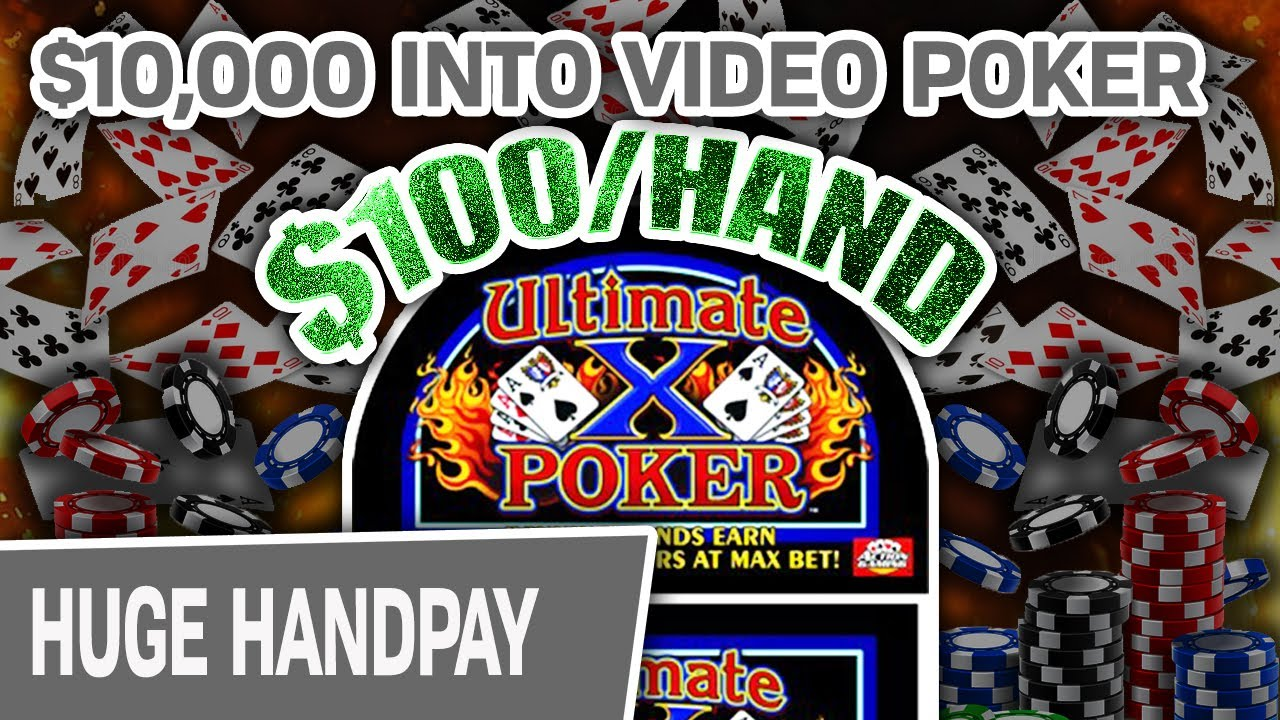 10 000 On Ultimate X Video Poker Up To 100 Hand In Reno Youtube
