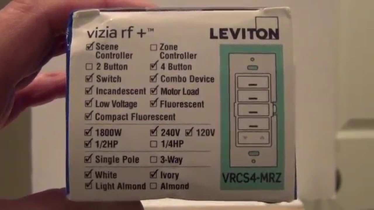 Leviton VRCS4 MRZ Include and Internal Load Switch Setup - Vera ...
