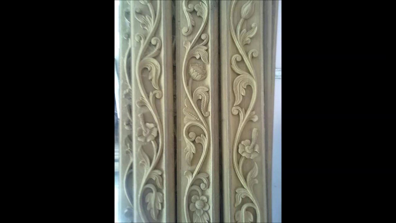 Wood carving work design youtube