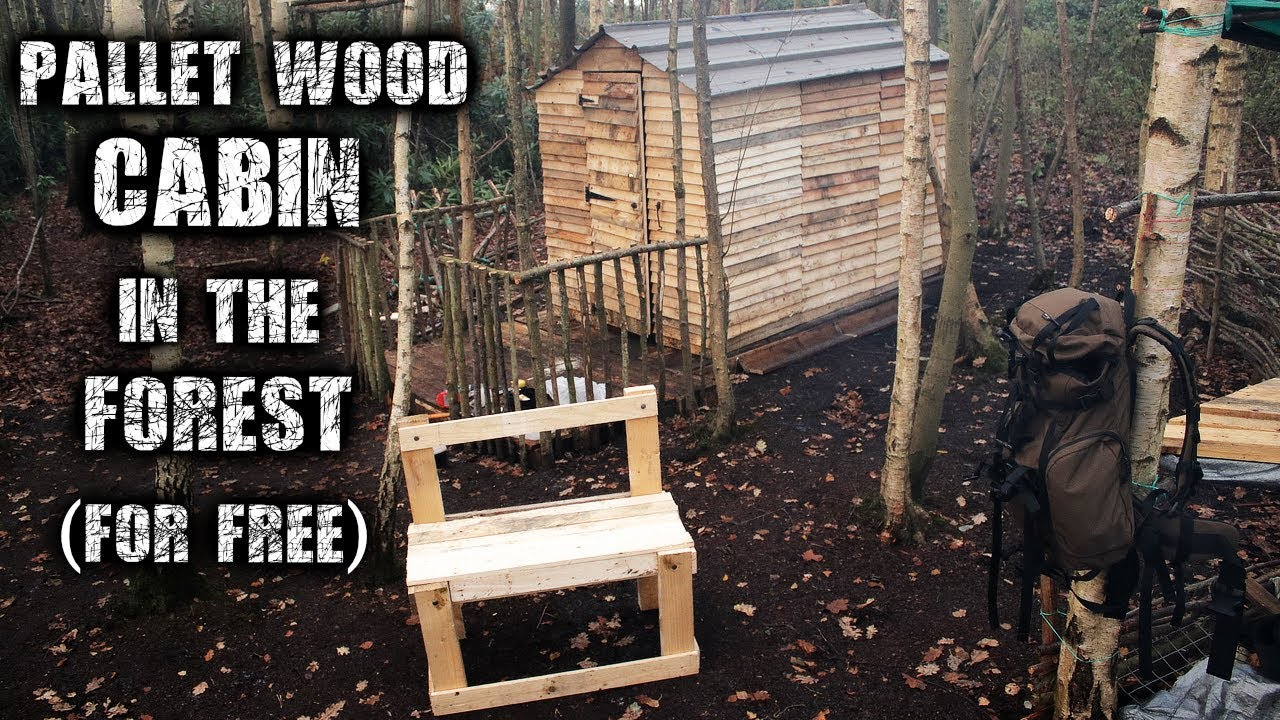 Recycled Pallet Wood Cabin Build An Off Grid Wilderness