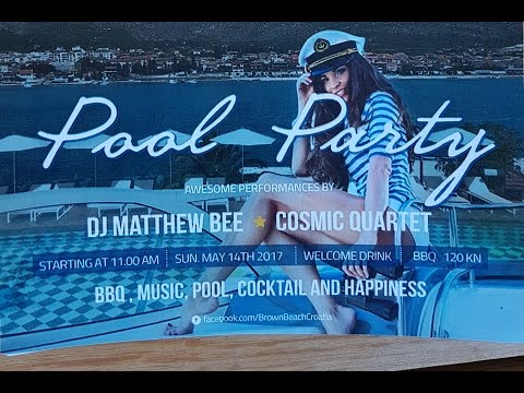 Spring Break Pool Party at the Brown Beach House Aftermovie with the Cosmic Quartet