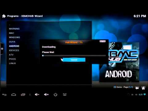 How To Install Adons Using XBMC Hub Wizard For Android