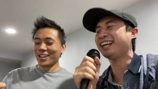 Me and my friend singing 'In the End' (Linkin Park karaoke)