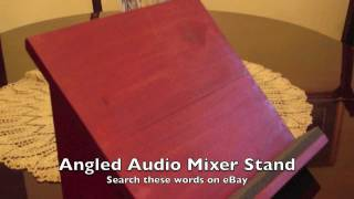 Angled audio mixer stand for A…