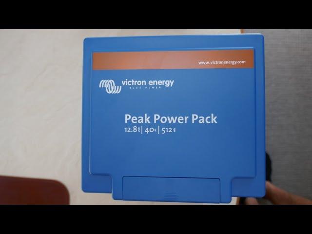 Victron Peak Power Pack 40Ah Lithium batteri er egnet til Campingvogn og Mover - Vejer kun 8,6 kg