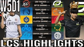 LCS Highlights ALL GAMES Week 5 Day 1 Spring 2019 League of Legends NALCS