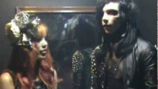 Black Veil Brides interview, Andy Six meets La Carmina! Seattle concert 2010, Knives and Pens Andy6