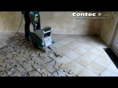 contec bull fliesen entfernen removing ceramic tiles youtube. Black Bedroom Furniture Sets. Home Design Ideas
