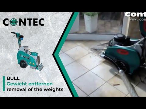 contec bull fliesen entfernen / removing ceramic tiles - youtube