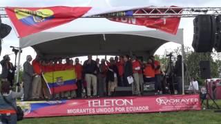 LOCAL 78 en New York, TELETON MIGRANTES UNIDOS POR ECUADOR.. EL MUNDO AL DIA CON GLORIA. 05-15-2016