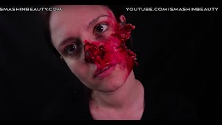 Exploded Face SFX Halloween Makeup Tutorial